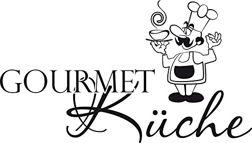 GRAZDesign Wandtattoos Küche Esszimmer Restaurant - Aufkleber für Küche Gourmet Küche - Wandtattoo Küche Koch / 70x40cm / 070 schwarz (Persönliche Koch Herd)