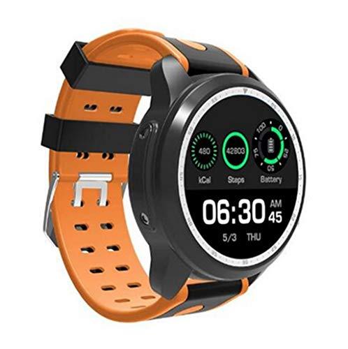 XUWLM Fitness-Armband Smart Watch Android 6.0 OS Smartwatch 4G WiFi GPS 1 GB + 16 GB Armbanduhr Unterstützung Whatsapp Facebook YouTube, orange