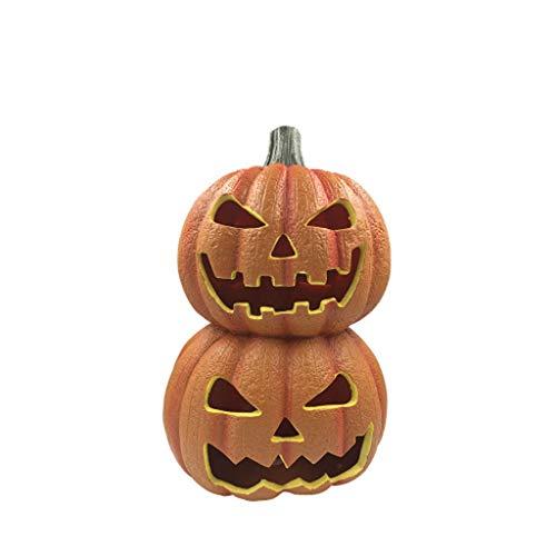 TYXHZL Halloween-Requisiten Kürbis-Lichter Lustige Doppel-Stack-Kürbis-Laterne Reihe Ghost Festivalaktivitäten Requisiten Halloween Dress up Vorräte