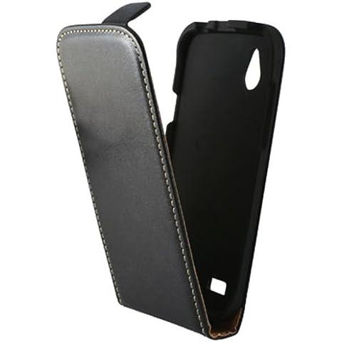 Ksix B1072FU90 - Funda vertical con tapa para HTC Desire X, negro