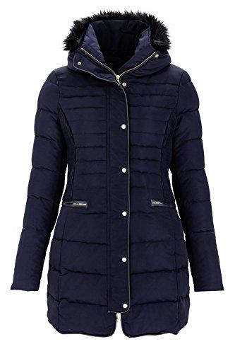 Remy Ein Licht (Zero Damen Jacke Daunenjacke REMY, Farbe: Dunkelblau, Größe: 38)