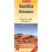 Nelles Map Landkarte Namibia - Botswana: 1:1.500.000 | reiß- und wasserfest; waterproof and tear-resistant; indéchirable et imperméable; irrompible & impermeable (Nelles Map / Strassenkarte)