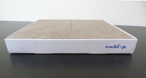 katzeninfo24.de cubi-p XL Kratzbrett für Katzen mit Catnip