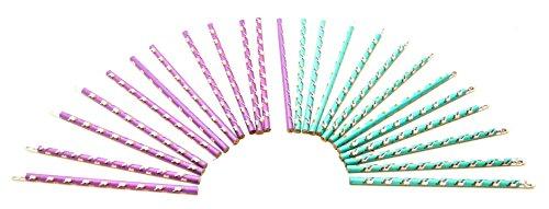 24 X Bleistift mit EINHORN + Radiergummi by schenkfix