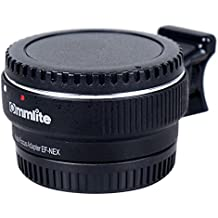 Autofocus Commlite EF-NEX EF-EMOUNT FX, adaptador de soporte de lente para lente Canon EF EF-S y Sony E Mount NEX 3/3N/5N/5R/7/A7 A7R de marco completo, color negro