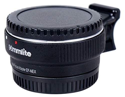 Commlite Auto Focus EF-NEX EF-EMOUNT FX Lens Mount Adapter for Canon EF EF-S Lens to Sony E Mount NEX 3/3N/5N/5R/7/A7 A7R Full Frame, Color Black (Ef Body)
