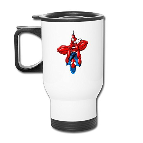 Famouse Super Hero Spider-Man Logo Handle Insulated Mug Tumblers Cups Reusable