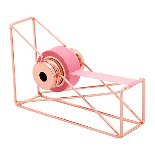 Cuigu Cinta dispensador Cutter Oro Rosa para Washi Tape Cinta Papel Cinta Cutter Escritorio Organizador de Almacenamiento papelería Suministros de Oficina