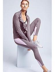Después de la hembra pantalones de yoga vendaje transversal hueca movimiento de baile pantalones de jogging color dulce hechizo , spelling , m