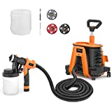 Paint Sprayer, Tacklife SGP17AC 1200 W Hvlp Spray Gun, 1100ml/min, 2 Detachable Containers