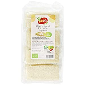 Vivibio Sfogliatine di Riso e Ceci senza glutine Bio - 150 gr (Confezione da 6 pezzi) 6 spesavip