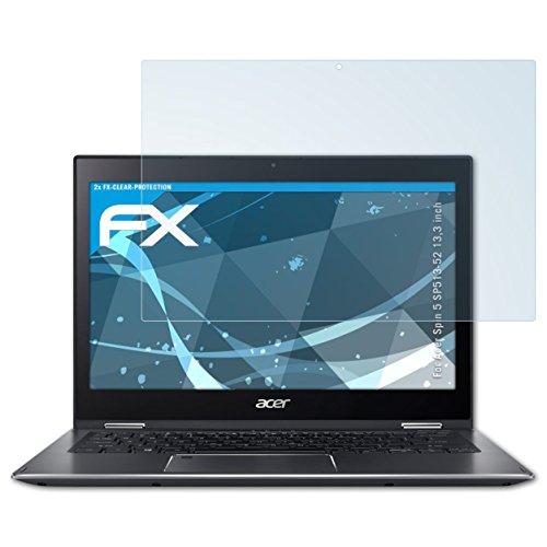 atFolix Schutzfolie kompatibel mit Acer Spin 5 SP513-52 13,3 inch Folie, ultraklare FX Bildschirmschutzfolie (2X)