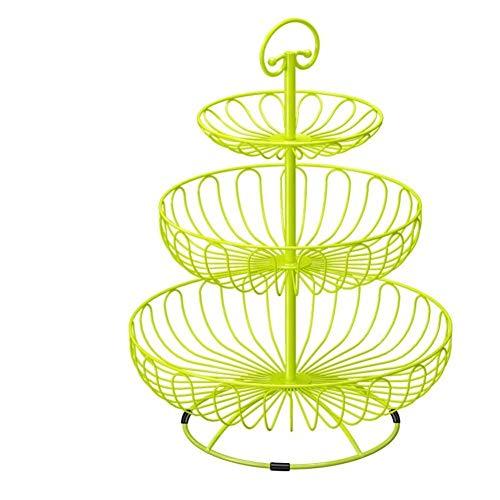 QTQHOME 3 Große Service Plattenteller,100% Metal Kuchen Tray Und Border Hierarchische Runde Früchte In ihrem zuhause Auf Hochzeiten oder Dessert Obst Display-ständer-C 32x45cm(13x18inch) Metal Tray