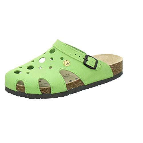 Afs Sapatos 21993, Esd Tamancos Chinelos Confortáveis para Senhoras, Sapatos De Trabalho Prático, Maçã Couro Real