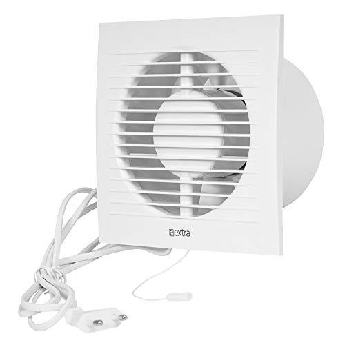 Wandventilator Lüfter Abluft Kabel Schalter Ventilator Küche WC Bad Ø 100 mm ee100wp