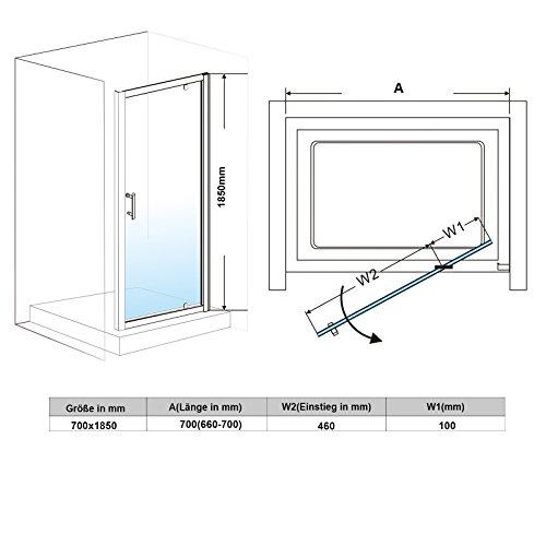 Drehtür mit Rahmen - 4