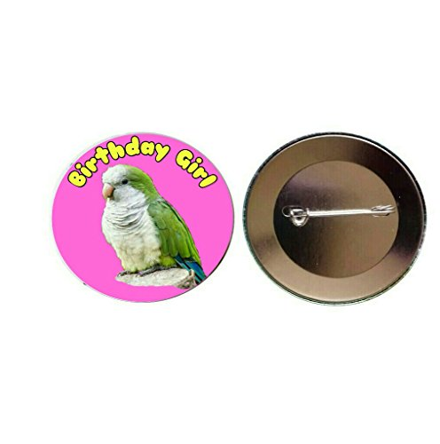 quaker-parrot-birthday-girl-55mm-pink-button-pin-badge