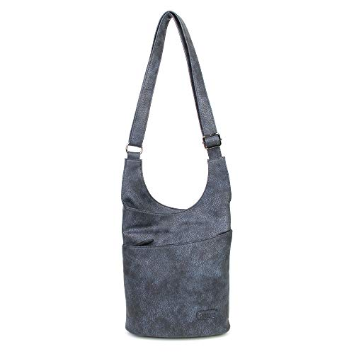 etasche Damen Blau Groß - Crossbody Bag - PU Leder Schultertasche - Messenger Handtasche - Damen Tasche - premium Qualität ()