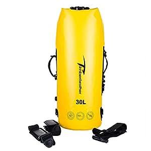 Timberbrother Sac Etanche Poche / Sac à dos Imperméables - Parfait pour Kayak, Nautique, Canoë-kayak, Camping et Activités de Plein Air (Jaune, 40L)