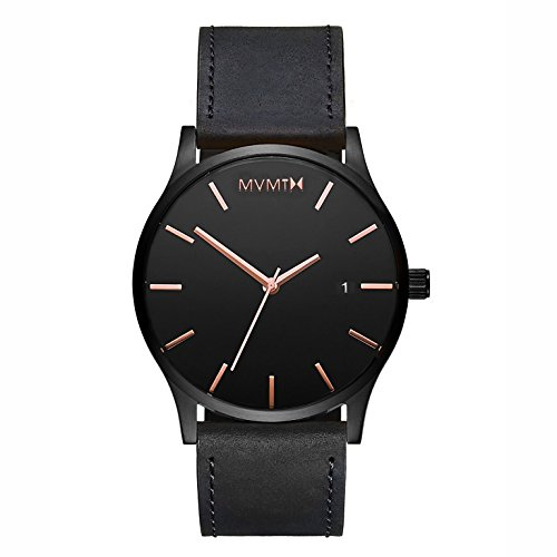 MVMT Herren Analog Quarz Uhr mit Leder Armband D-MM01-BBRGL