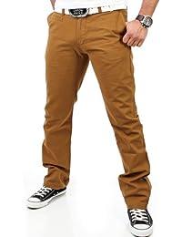 Reslad Chino Hose Herren, schwarz   Super bequem   Top Qualität   Moderne Stoffhose, Baumwollhose für Männer   Leichte Sommer-Hose, Freizeithose Regular fit für Herren und Jungen