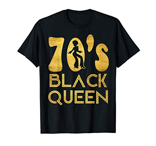 70er Jahre Black Queen Seventies Halloween-Kostüm T-Shirt