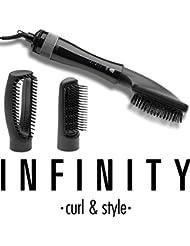 INFINITY 16650109 Multistyler, Haartrockenbürste, Haartrockner, 3 in 1, Cool Shot, Präzisionsbürste, 1000 Watt,schwarz mit silber Details