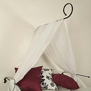 liedeco ensemble de fixation pour ciel de lit noir cuisine maison. Black Bedroom Furniture Sets. Home Design Ideas