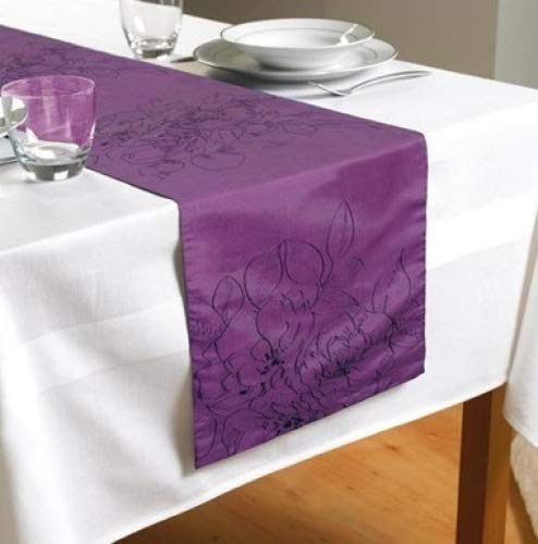 Country Club brodée Rose Violet chemin de table