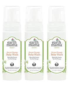 Earth Mama Angel Baby Organic Angel Baby Shampoo & Body Wash, 5.3-Ounce Bottles (Pack of 3) by Earth Mama Angel Baby (English Manual)