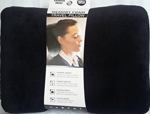 sharper-image-rate-1-memory-foam-travel-pillow-by-sharper-image