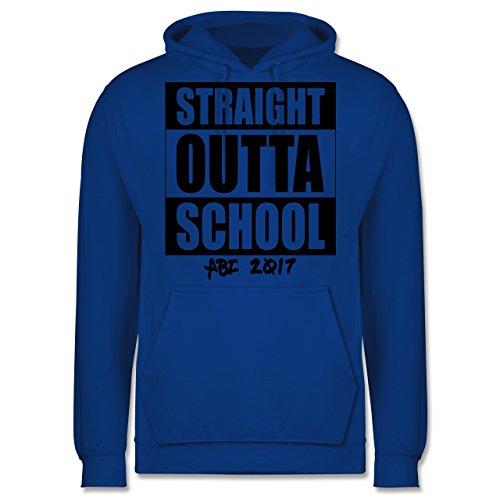 Abi & Abschluss - Abi 2017 Straight Outta School - Männer Premium Kapuzenpullover / Hoodie Royalblau