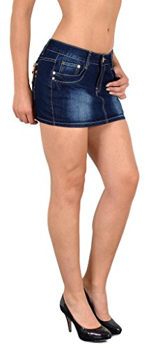 by-tex Mini Rock Damen Minirock Jeans Mini Damen Jeansrock Damenrock in aktuellen Farben (Denim Rock Frauen)