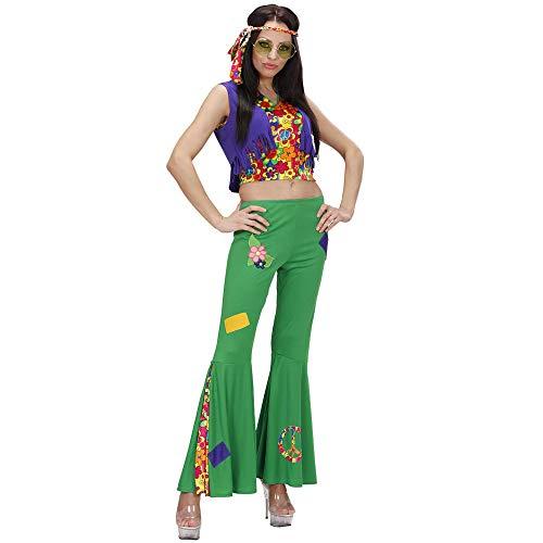 Widmann 73283 - Kostüm Hippie-Frau, Shirt, Hose und Stirnband, Größe L