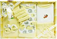 MINI BERRY Baby's Cotton Gift Set (Yellow) -13 Pi