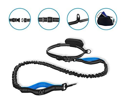 Joggingleine für Hunde mit extra hoher Spannkraft für Belastungen bis 100kg und dehnbar von 120 bis 220cm | stoßdämpfend und reflektierend | von Happilax - 2