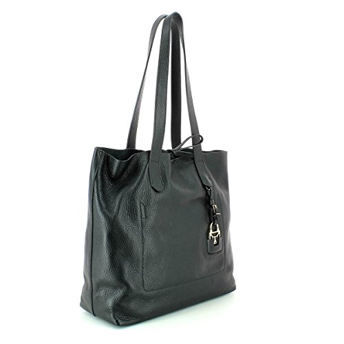 Patrizia Pepe Shopper Tasche Leder 35 cm nero
