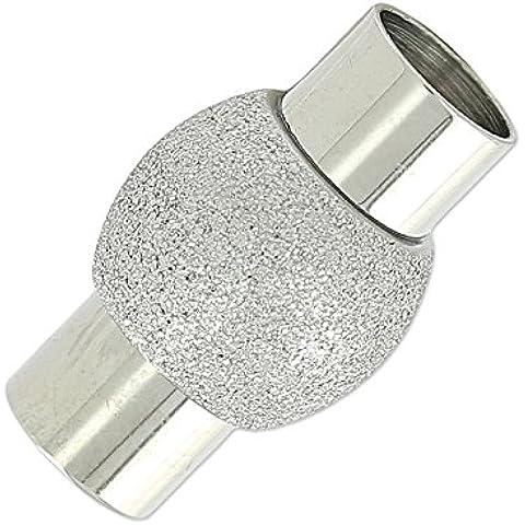 Chiusura sfera diamantata magnetica per cordoni mm.6 en Acciaio inox x