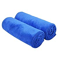 Microfiber Car Drying Towels Super Absorbent Large Car Wash Towels Scratch Free Car Cleaning Towels 2 Pieces Ultra Soft Auto Detailing Towels 70 x 30cm