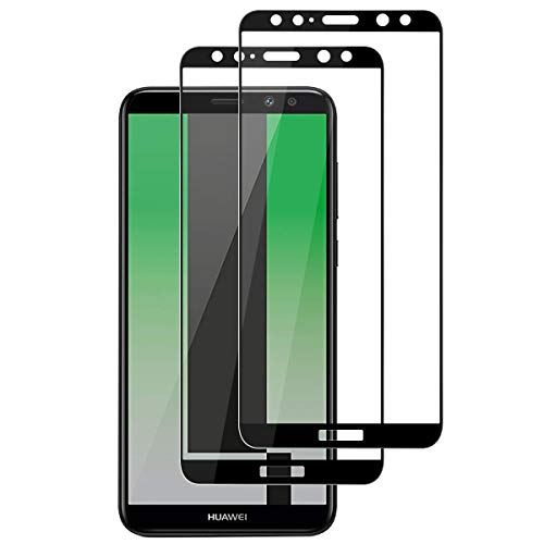 ROOTE Protector de Pantalla Huawei Mate 10 Lite, [2 Unidades] [Cobertura Completa] [Pegamento Autoadhesivo] [sin Burbujas] película de protección de Vidrio Templado para Huawei Mate 10 Lite.