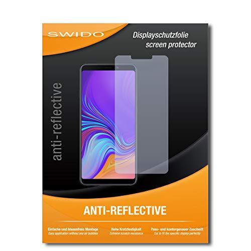 SWIDO Schutzfolie für Samsung Galaxy A9 (2018) [2 Stück] Anti-Reflex MATT Entspiegelnd, Hoher Härtegrad, Schutz vor Kratzer/Bildschirmschutz, Bildschirmschutzfolie, Panzerglas-Folie