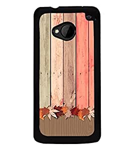 Wooden Pattern 2D Hard Polycarbonate Designer Back Case Cover for HTC One :: HTC One M7
