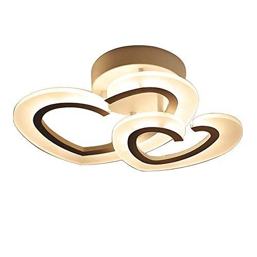 Modern LED Deckenleuchte, Dimmbar mit Fernbedienung Lampe/Leuchte Kreativ Herzform Deckenlampe Acryl Lampenschirm Deckenbeleuchtung für Wohnzimmer Schlafzimmer Restaurant / 3000-6000K