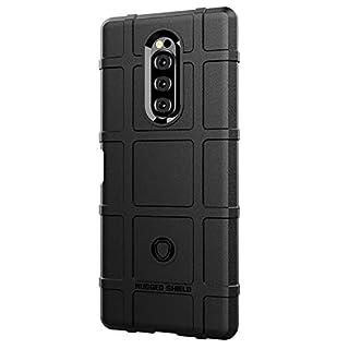 Sunrive Case For Sony Xperia XZ4, Ultra Slim matte Soft Premium TPU Silicone Back Rubber Bumper Protector Cover Case(023 black)