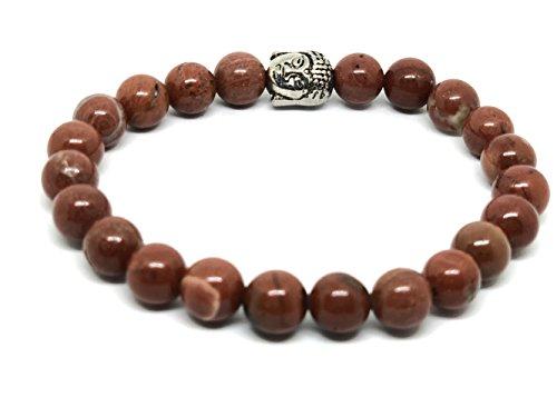 Genuine diaspro rosso buddha braccialetto pietre preziose eticamente ~ charka guarigione meditazione yoga gioielli in confezione regalo