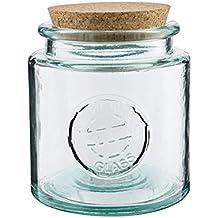 Vidrios San Miguel- Tarro de vidrio reciclado redondo 0,8l.
