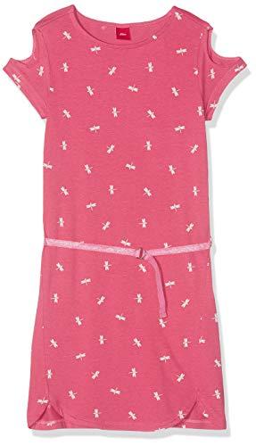 s.Oliver Mädchen 73.906.82.5834 Kleid, Rosa (Lipstick Pink 45a4), 176 (Herstellergröße: 176/REG)