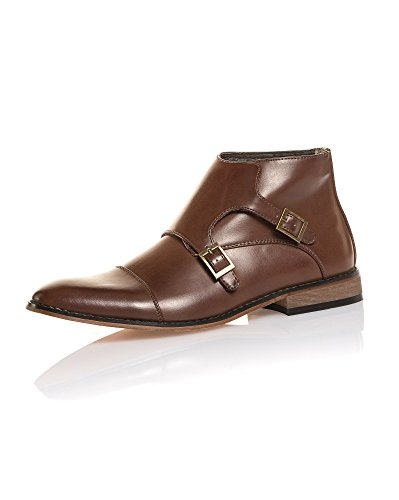 BLZ Jeans - Chaussure Ville Marron à Boucles
