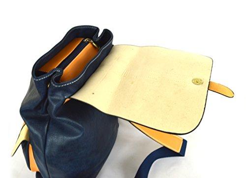 GFM, Borsa a zainetto donna small Style 5 - Blue (72NL)