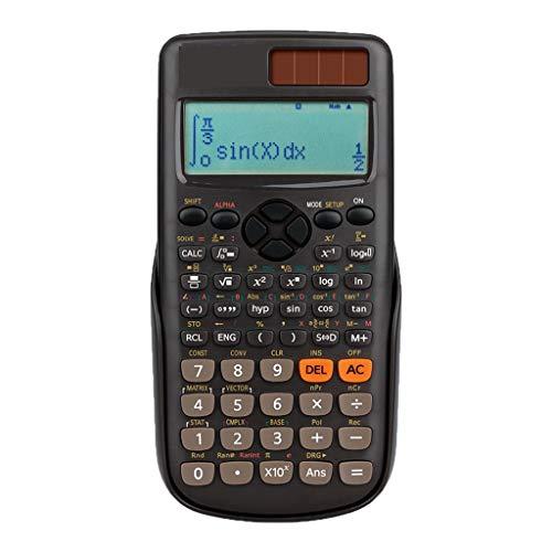 Tischrechner Wissenschaftlicher Ingenieur Taschenrechner Kalkül Komplexer Taschenrechner Drei Farben Optional (Color : Brown) (Kalkül 3)